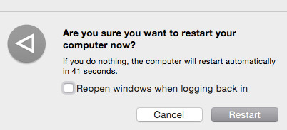Apple Restart Option
